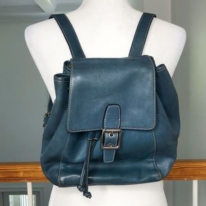 Authentic Coach Legacy Flap Drawstring Daypack